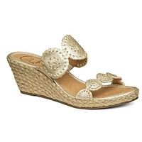 Shelby Wedge Sandal in Platinum by Jack Rogers
