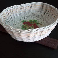SALE Home decor Office organizer Paper Wedding basket Easter basket  Home organizer  Wedding decor Rustic home Ceremony decorations Easter