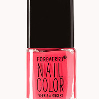 FOREVER 21 Neon Pop Nail Polish Miami Pink One