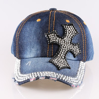 CRUOXIBB Fashion Summer Style Caps Women And Man Rhinestone Hat Shading Baseball Cap Cross Cowboy Women's Cap