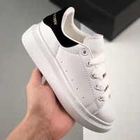 Alexander McQueen White Black Toddler Kid Shoes Child Sneakers
