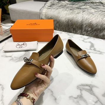 HERMES 2021 Women Casual Shoes Boots fashionable casual leather09080gh