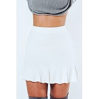 Take A Look Skirt: White