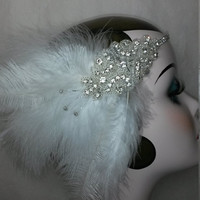 Moulin rouge, circus, ladies bridal, valentines wedding, shower, headband, headdress, headpiece, feathers, free shipment
