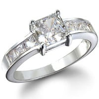 Cubic Zirconia Promise Ring - Emmy's Princess Cut