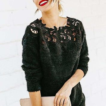 Infinite Envy Lace Sweater