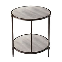 Peninsula Mirrored Side Table by Butler Specialty Company 3048025