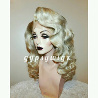 Hollywood Glamour // Long Finger Wave // Blonde // Drag Queen // Show Girl // Lace Front // Wig