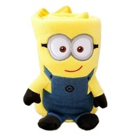"Ibeauti ""Minions"" Throw Blankets, Portable Cute Fleece Air Conditioning Blanket for Baby, Kids, Office Ladies, 32.3"" * 27.6"" (Two Eyes)"