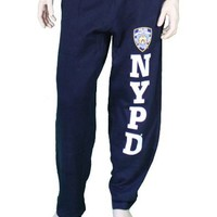 NYPD Mens Sweatpants Training Pants Licensed Police Navy Blue Xl