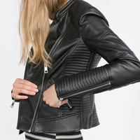 Leather Jacket Blazer Zippers