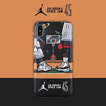 Air Jordan 1 tide brand 7plus/8p soft shell iphoneXS mobile phone case cover #3