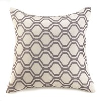 Hexagon Geometric Throw Pillow