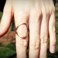 70's Modern Brass Ring Vintage by elementalchild on Etsy