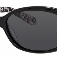 Kate Spade - Cheyenne P S Black Dots Sunglasses / Gray Polarized Lenses
