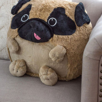 Kawaii Plush One Pillow in Pug by ModCloth