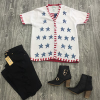 Vintage Star Spangled Cardigan