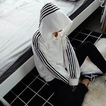 Hoodies Tops Winter Hot Sale Women's Fashion Patchwork Hats Casual Jacket [80175071247]