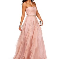 Colette-Blush Homecoming Dress
