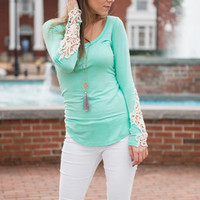 In Plain View Top, Mint