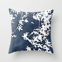 blue Throw Pillow by Ingrid Beddoes | Society6