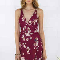 Cupshe Fully Grown Floral Plunging Wrap Dress