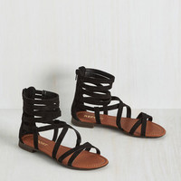 Crisscross Your Fingers Sandal in Black | Mod Retro Vintage Sandals | ModCloth.com