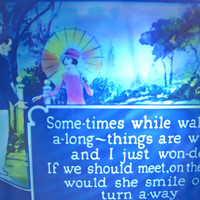 Vintage Magic Lantern Slide - 1920's Song Lyrics