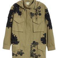 Alice + Olivia Meta Embroidered Utility Jacket | Nordstrom