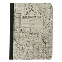 Topographical Map Decomposition Book: Grid-ruled Composition Notebook With 100% Post-consumer-waste Recycled Pages