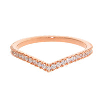 Gold Chevron CZ Eternity Stackable Ring
