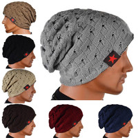 Baggie Reversible Knitted Winter Fashion Style Beanie Mens 7 Colors