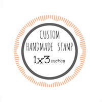 Custom Stamp - Custom Logo Stamp - Custom Rubber Stamp - Branding Stamp 1x3 inches