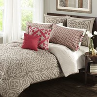 Wild Olive Medallion 7-pc. Reversible Comforter Set