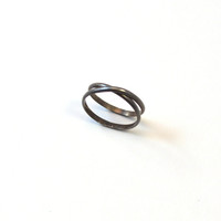 Oxidized Silver Infinity Ring. Convertible Ring.