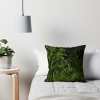 'Small leaves. ' Throw Pillow by VanGalt