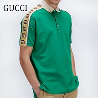 GUCCI Summer Men Women Leisure Short Sleeve Polo Shirt Top