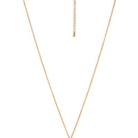 FOREVER 21 Caged Pendant Necklace Gold/Cream One