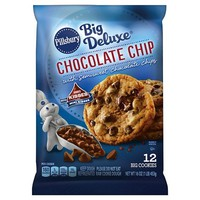 Pillsbury Big Deluxe Chocolate Chip Cookie Dough with Hershey's Mini Kisses 12 ct