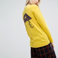Obey Long Sleeve T-Shirt With Love Cuffs Back Graphic at asos.com
