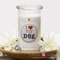 I Love My Dog - Jewelry Greeting Candles
