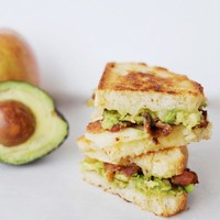 mmmm ... happy food ? / Bacon and avocado grilled cheese... yum