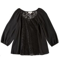 My Michelle Juniors Lace Front Woven Top | Bealls Florida