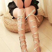 Straps Flat Sandals  from sniksa