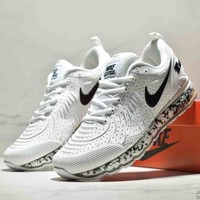 NIKE AIR MAX New Tide brand rear half palm cushion breathable wear-resistant shock absorption running shoes White