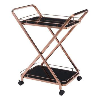 Vesuvius Serving Cart Rose Gold Stainless Steel