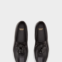 Versace 3D Medusa Head Leather Sneakers for Women   US Online Store