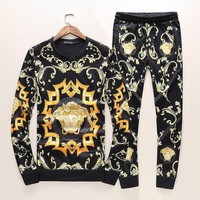 ONETOW Boys & Men Versace Top Sweater Pullover Pants Trousers Set Two-Piece Sportswear