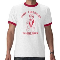 Camp Firewood Tee Shirts from Zazzle.com