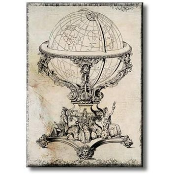 Globe Picture on Stretched Canvas, Wall Art Décor, Ready to Hang